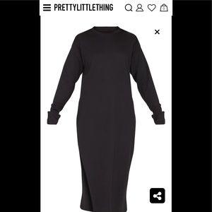 Side split midi dress